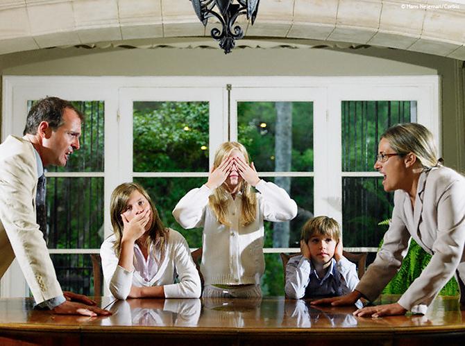 famille en crise