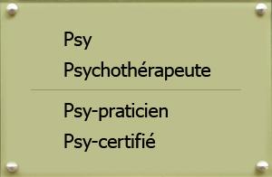 Psy-praticien, Psy-certifié, ou Psy